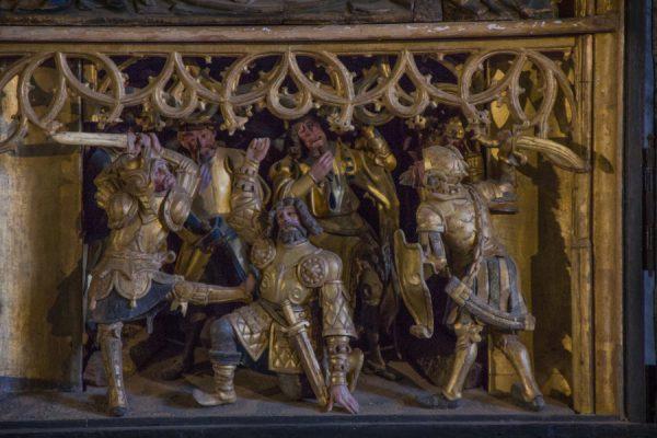 Schnitzaltar mit Lord Thomas Becket