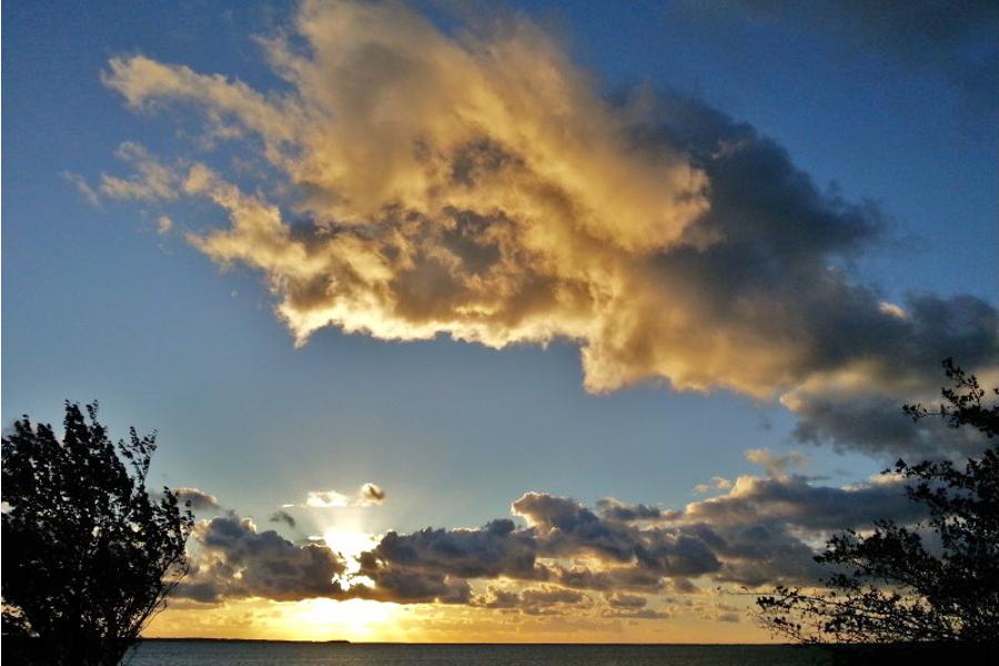 Wolkenbilder im August auf Ummanz