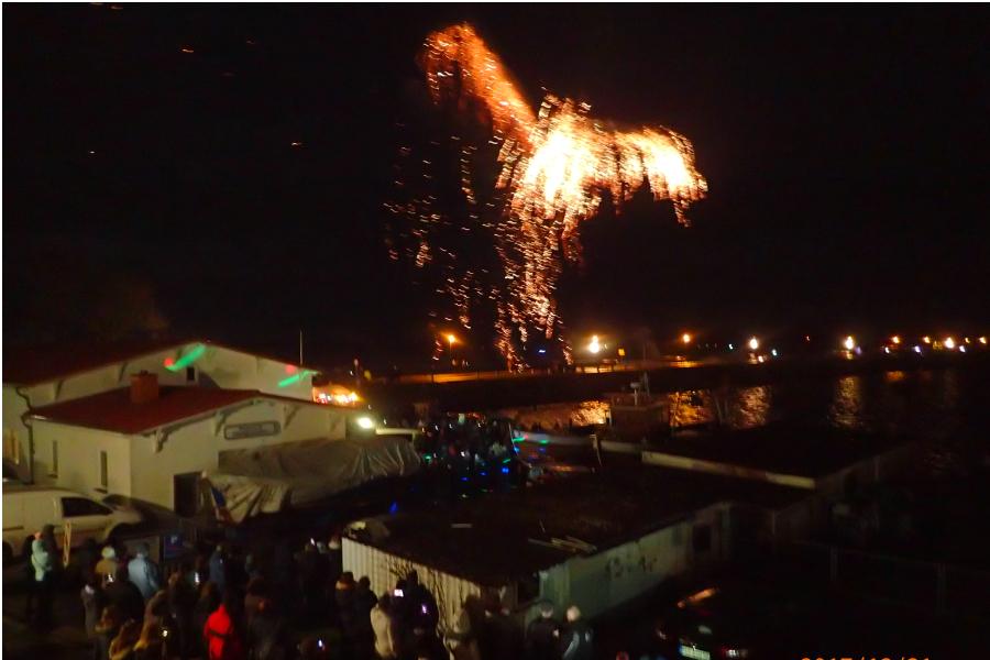 Silvesterfeuerwerk auf Ummanz