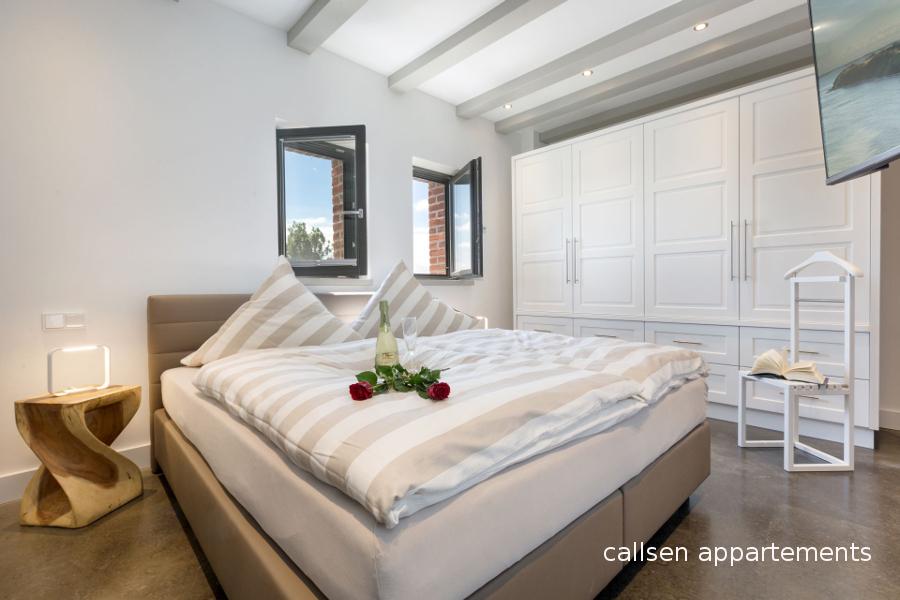 Schlafzimmer Callsen Appartements